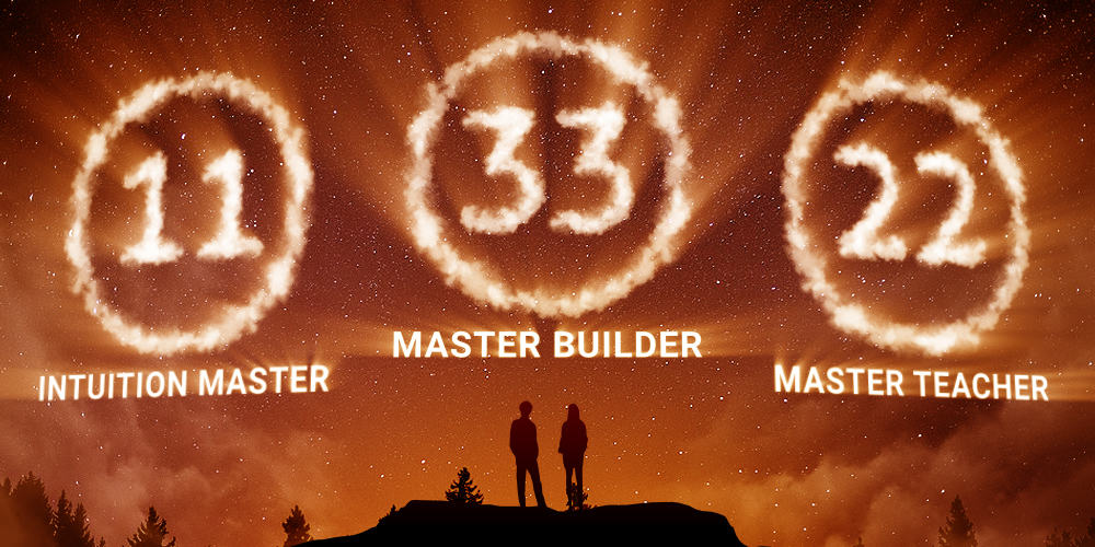 master numbers numerology 11 22 33